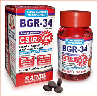 Aimil BGR 34 Tablets: Ayurvedic Medicine for Diabetes Approved by Indian Government